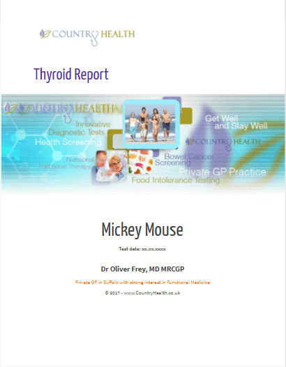Thyroid Report Cover page