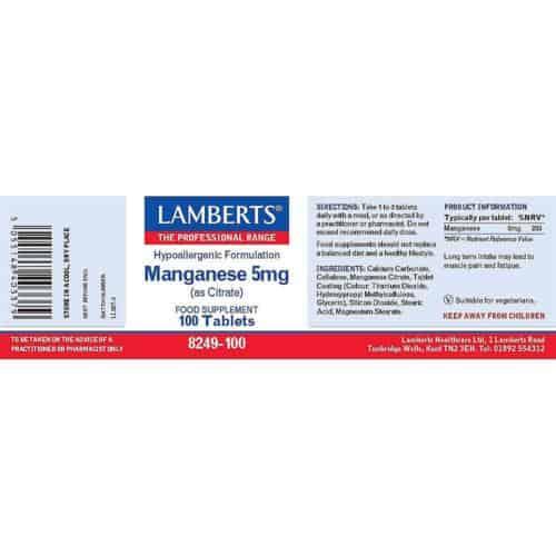 Manganese Label