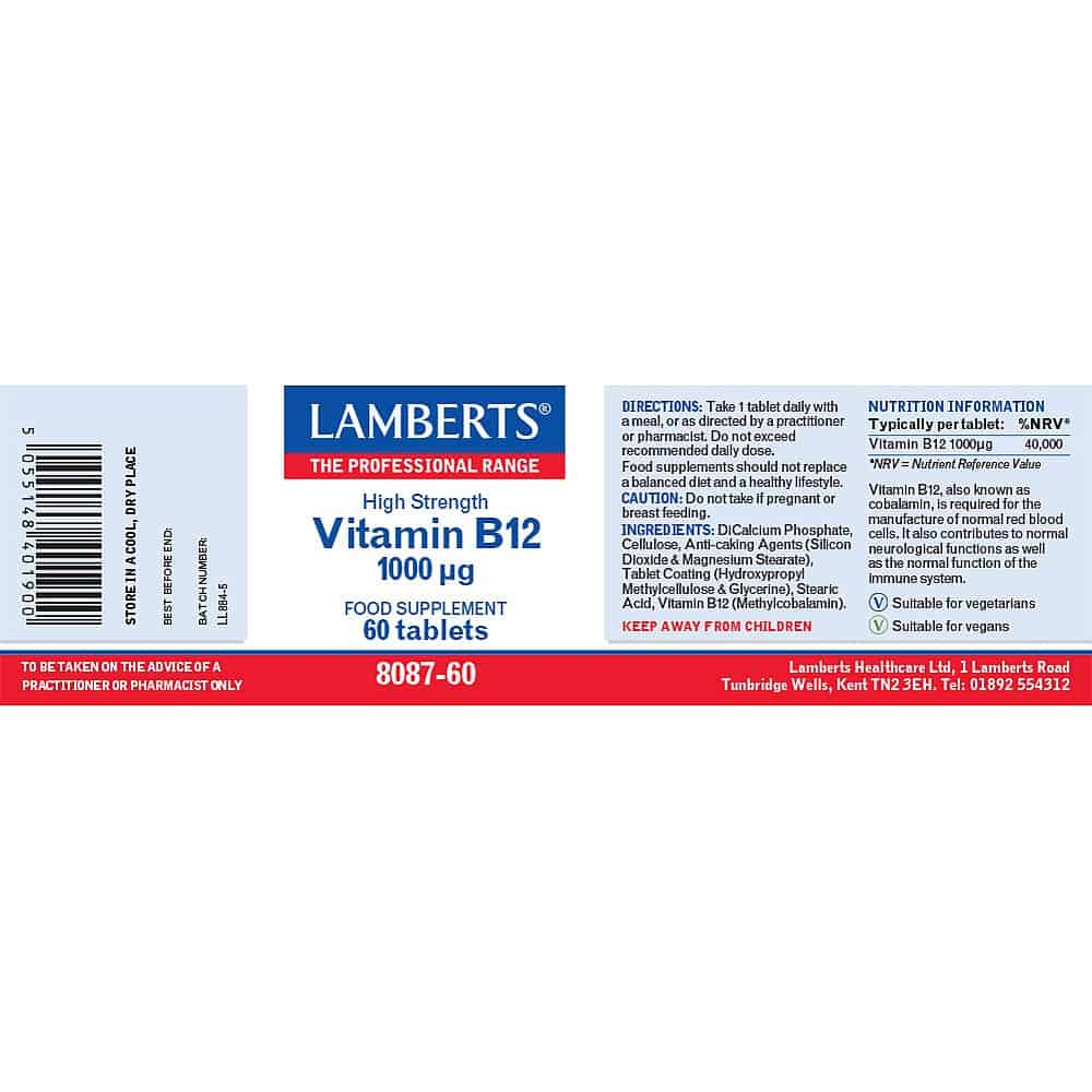 B12 Label